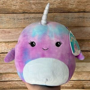 Squishmallow Hallie The Narwhal Purple Blue NEW
